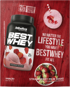 BEST WHEY SACHÊ DOSE ÚNICA STRAWBERRY MILK SHAKE