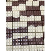 Barra mesclada de chocolate branco e chocolate 45% de cacau 100g
