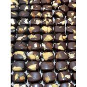 Chocolate 60% de cacau ao leite com castanha do Pará 100g