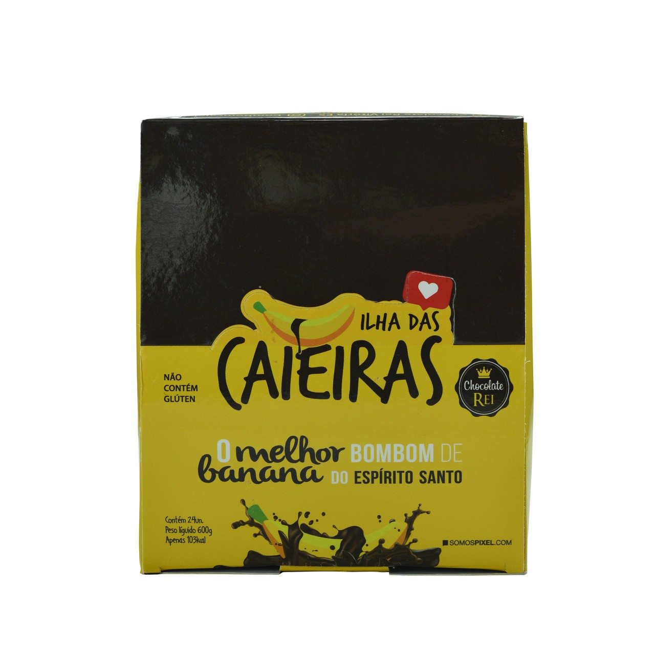 Bombom de Banana com chocolate Caieiras - Caixa