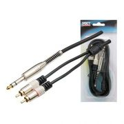 Cabo Mxt Gold 24k 81634 1.8m 2rca 1p10st Stereo Metal 07483
