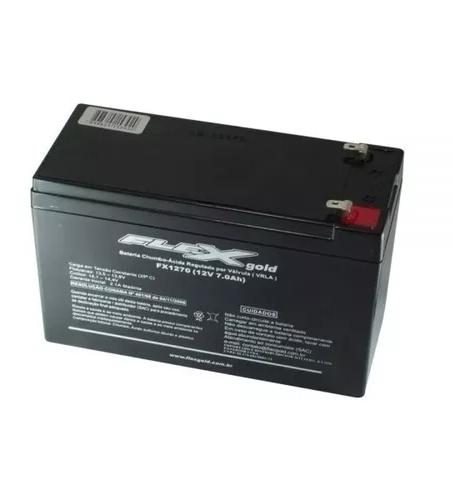 Bateria Flex Fxbs1270 7ah Selada Recarregável 12v