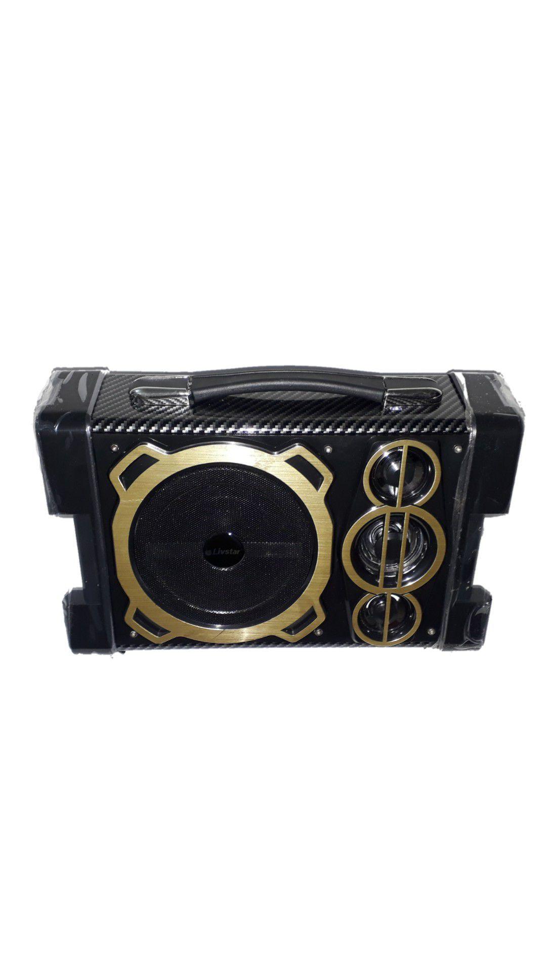 Caixa Amplificada Amplificada Livstar Rádio Cnn-53 Bta Preto