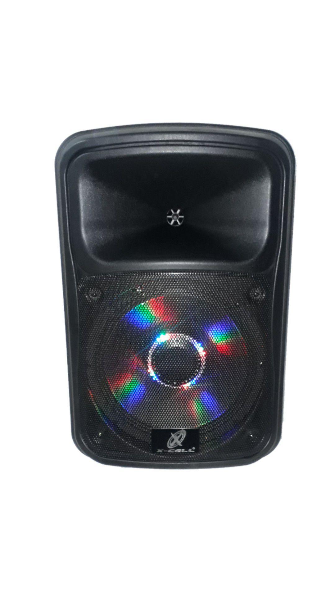 Caixa Amplificada Audmax Xck6-12 632 Blue.usb/sd/fm,2mic.s/fio Fal12 Bat12v Roda Ativa C/cont.rem.420w Ref