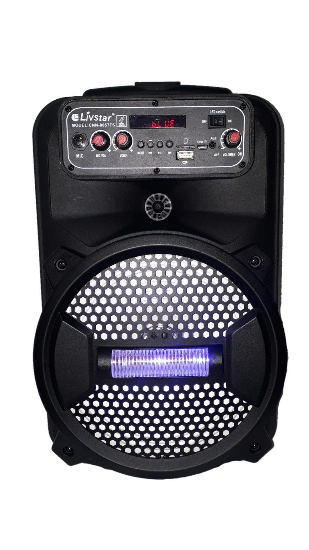 Caixa Amplificada Livstar Cnn8012ts Blue.usb/sd/fm/mic