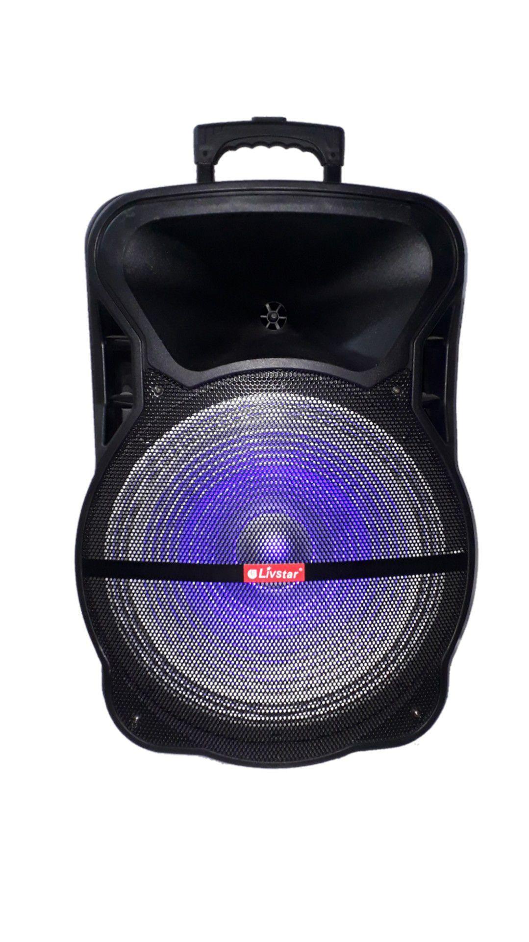 Caixa Amplificada Livstar Cnn8025 Bluetooth Usb Sd Fm Mic Falante 15
