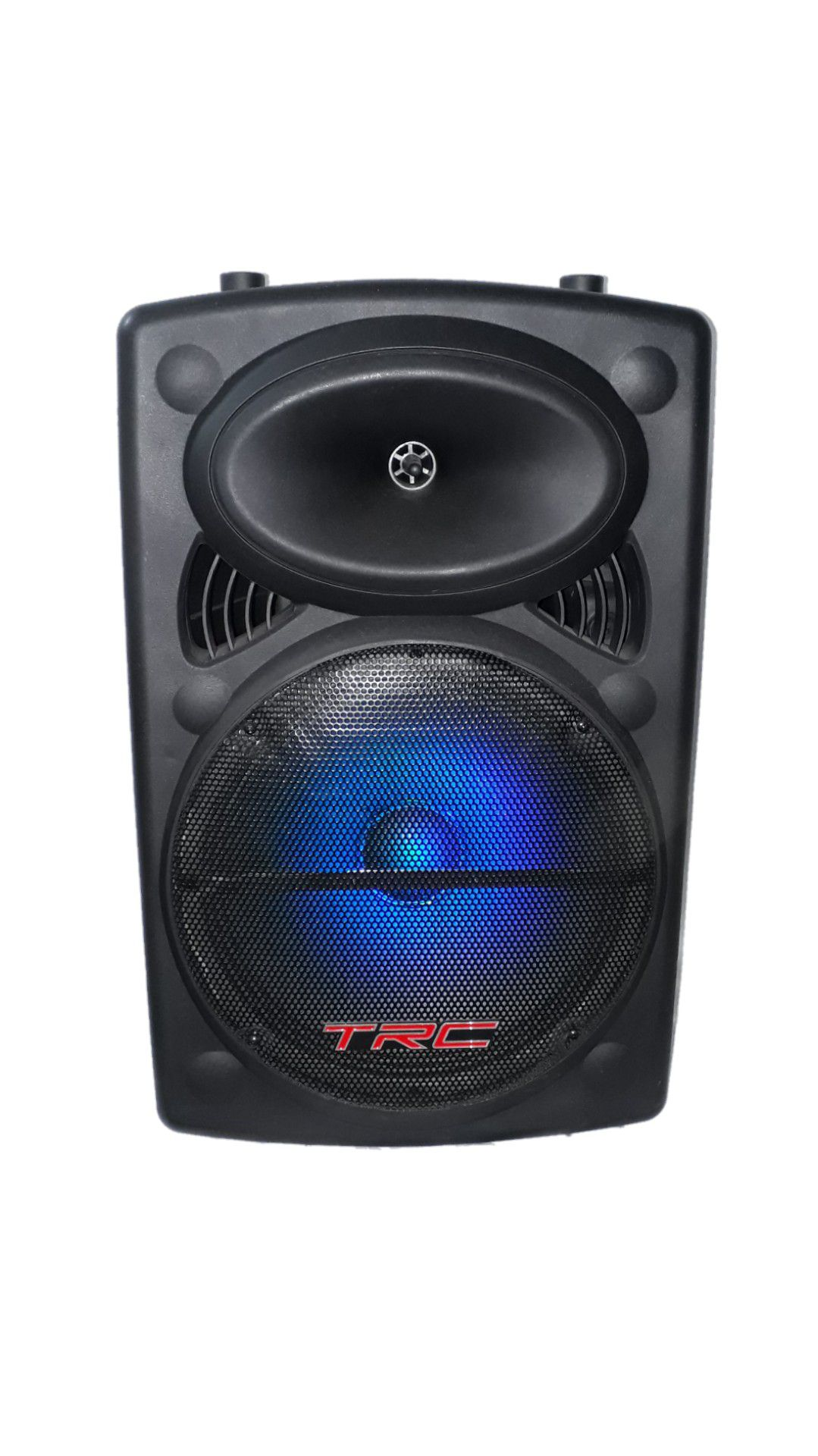 Caixa Amplificada Trc 436 Blue.usb/sd/fm,1mic.fal12 Bat12v Roda Ativa 35