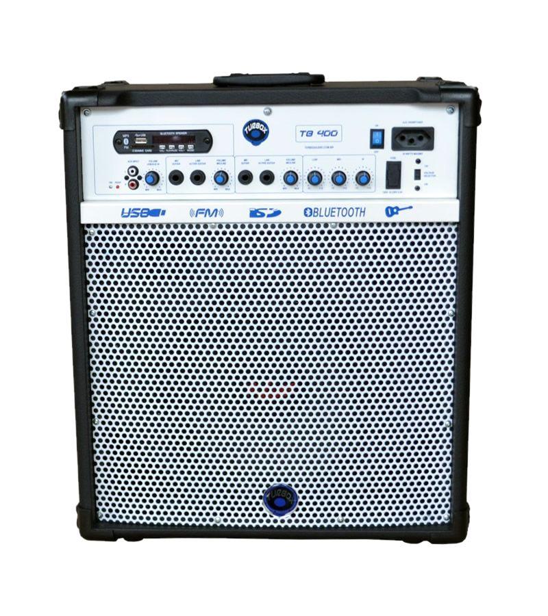 Caixa Amplificada Turbox Tb400 Bluetooth Usb/cd/fm,fal10 C/cont.rem.multius