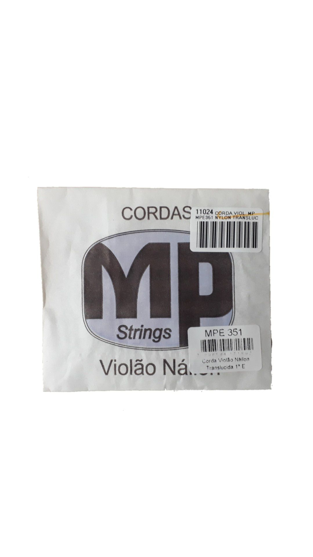Corda Violão Mp Mpe351 Nylon Translucida 1ª E/mi C/bolinha