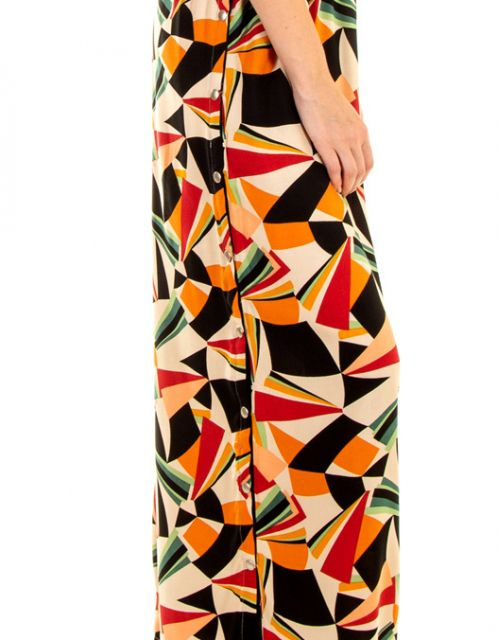 Calça OCNA BRASIL Pantalona Aberta Psicodélico Multicolorido