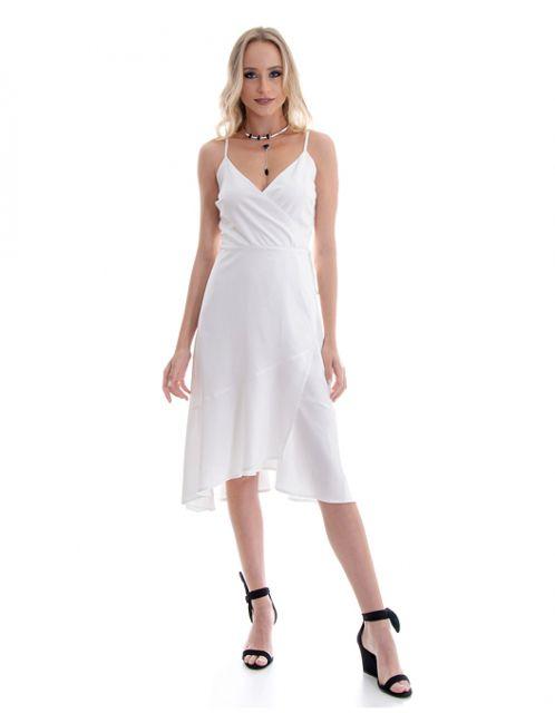 Vestido OCNA BRASIL Babados Envelope Branco