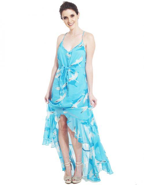 Vestido OCNA BRASIL de Alcinhas Catléia Azul