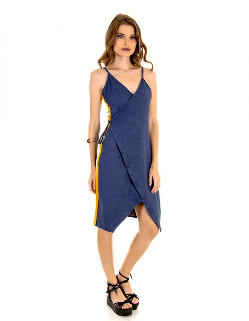 Vestido OCNA BRASIL Envelope Jeans