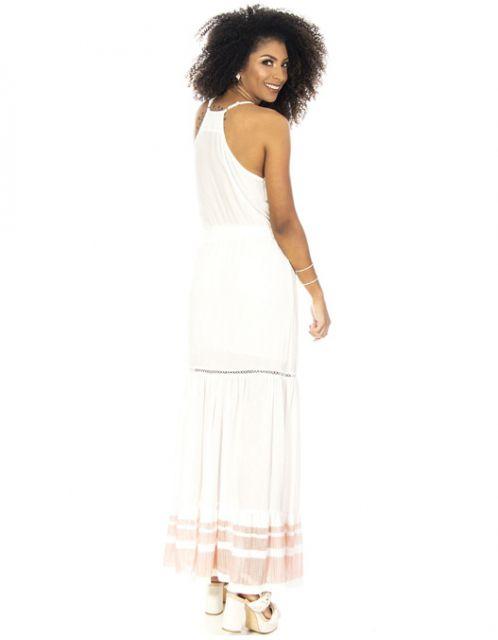 Vestido OCNA BRASIL Longo Ginga Branco