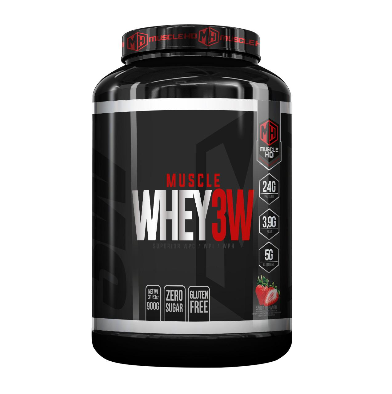 WHEY 3W 900g - MUSCLE HD