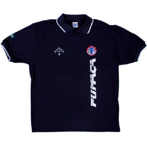 Camisa Pólo Fumaça Masculina Azul