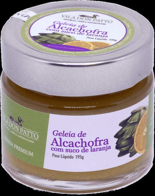 Geleia Premium de Alcachofra com Suco de Laranja Vila don Patto 195g  - Empório Don Patto