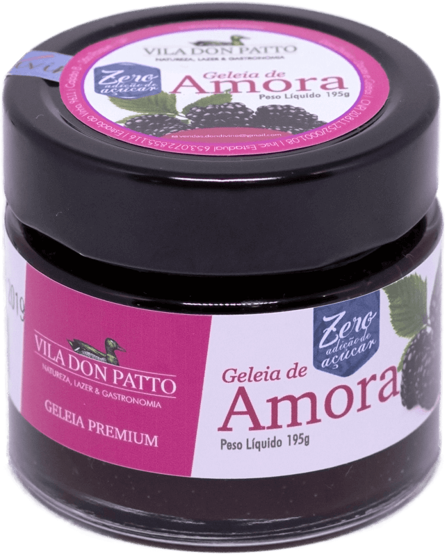 Geleia Premium de Amora Vila don Patto Zero Açúcar 195g  - Empório Don Patto