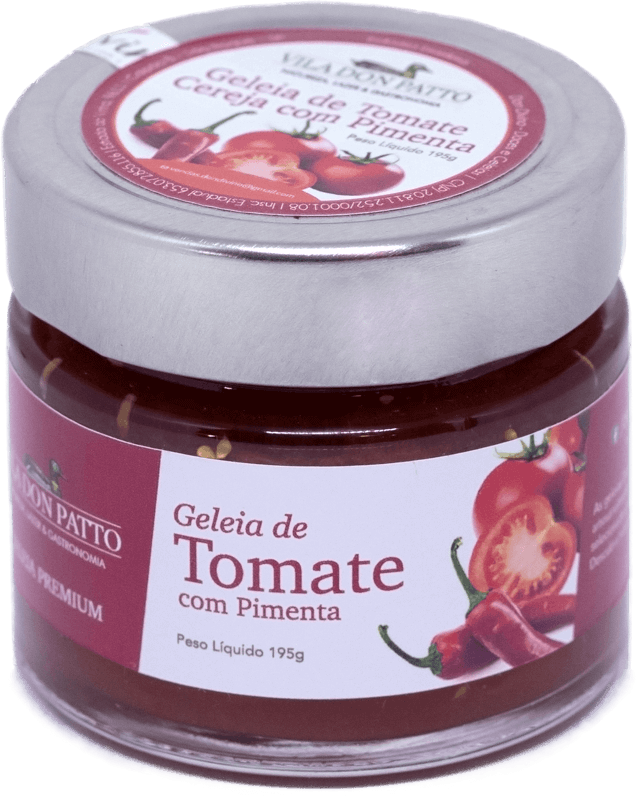 Geleia Premium de Tomate com Pimenta Vila don Patto  195g  - Empório Don Patto
