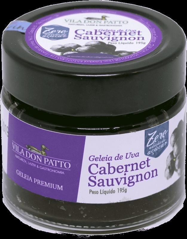 Geleia Premium de Uva Cabernet Sauvignon Vila don Patto Zero Açúcar 195g  - Empório Don Patto