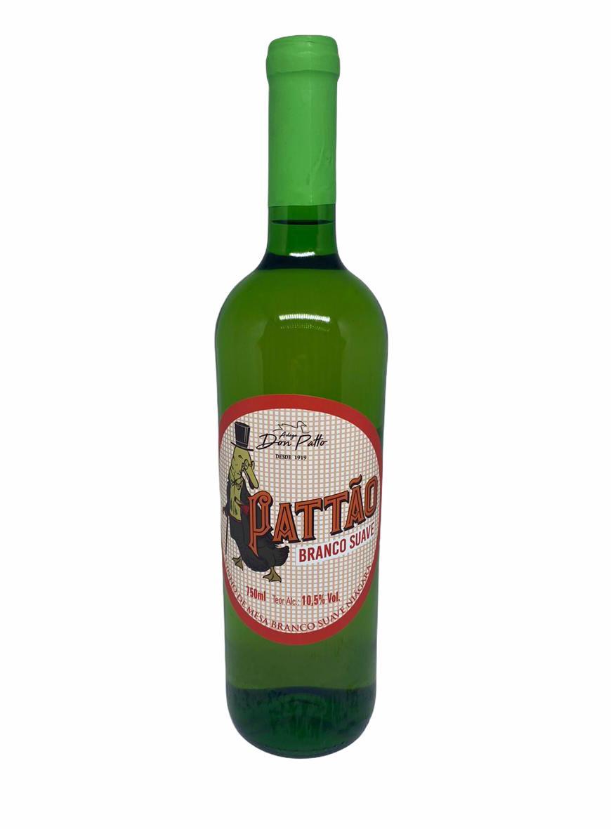 Vinho Pattão Branco de Mesa Suave 750ml  - Empório Don Patto
