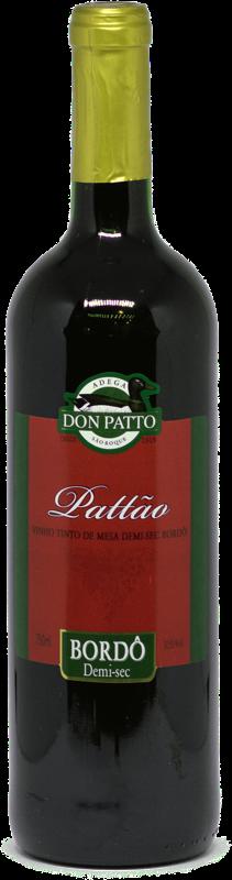 Vinho Pattão Tinto de Mesa Demi-Sec Bordô 750ml  - Empório Don Patto