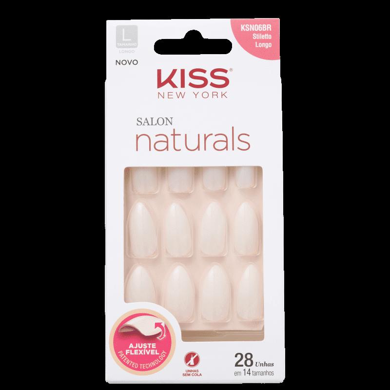 Kiss New York Salon Naturals Stiletto Longo