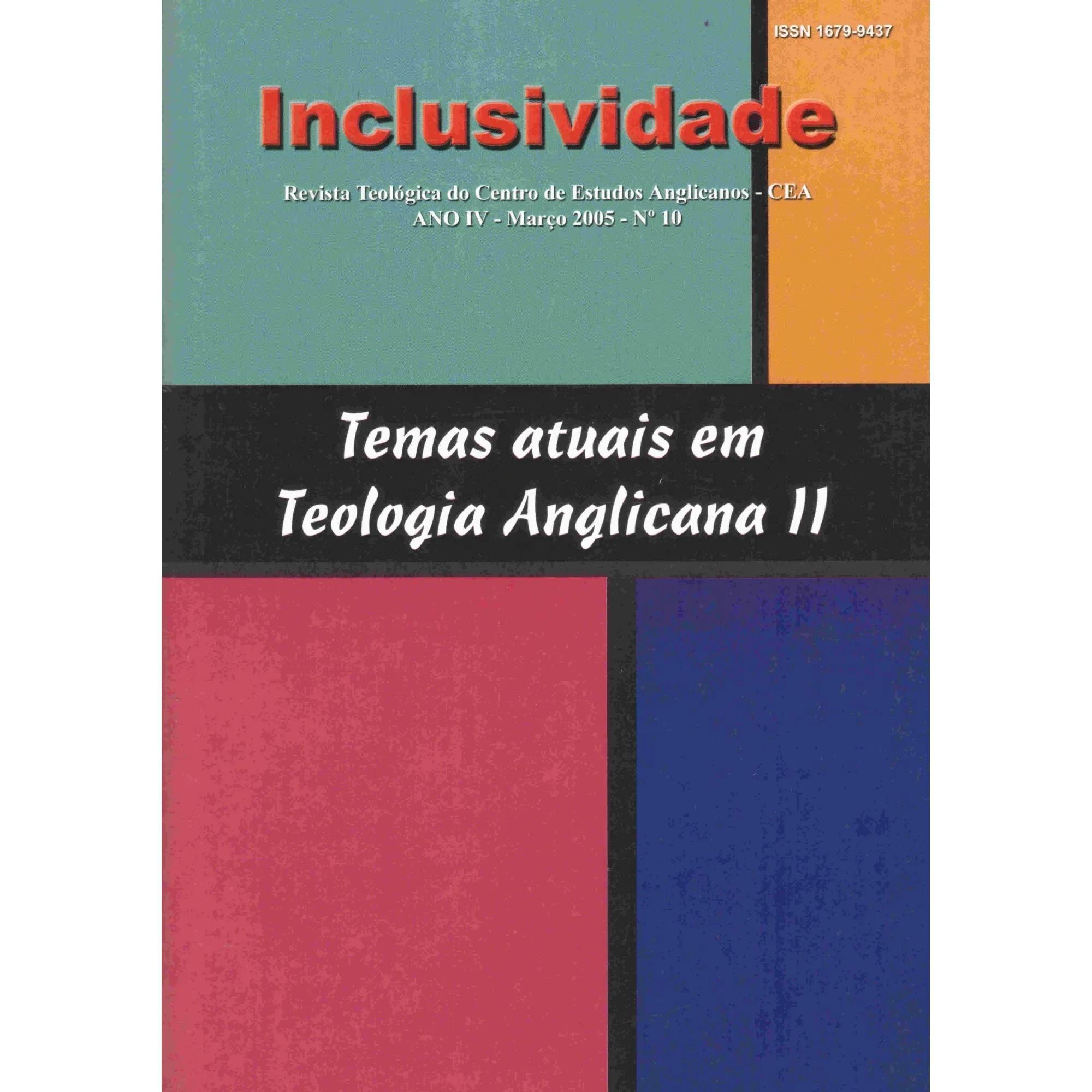 Revista INCLUSIVIDADE N° 10: Temas atuais em teologia anglicana II