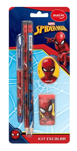 Conjunto Escrita Escolar Spider Man