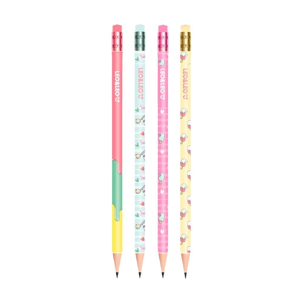 Lápis preto HB picolé - kit com 4 un