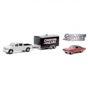 Miniatura Dodge Ram 2014 & Charger R/T Hitch & Tow 1/64 Greenlight