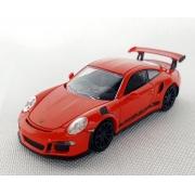 Miniatura Porsche 911 GT3RS 2015 Laranja 1/87 Minichamps