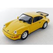 Miniatura Porsche 911 Turbo 964 1990 Amarelo 1/87 Minichamps