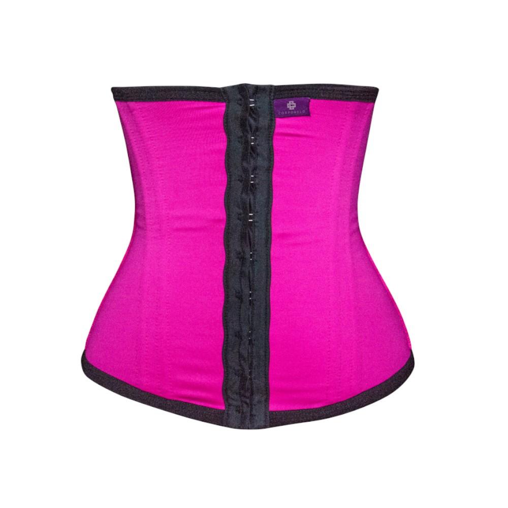 Cinta Modeladora Curta 2 Níveis de Regulagem e 8 Barbatanas - Pink