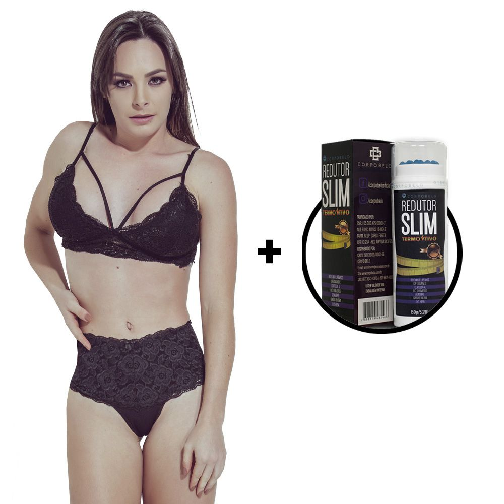 Kit Calcinha Modeladora Preta + Gel Redutor