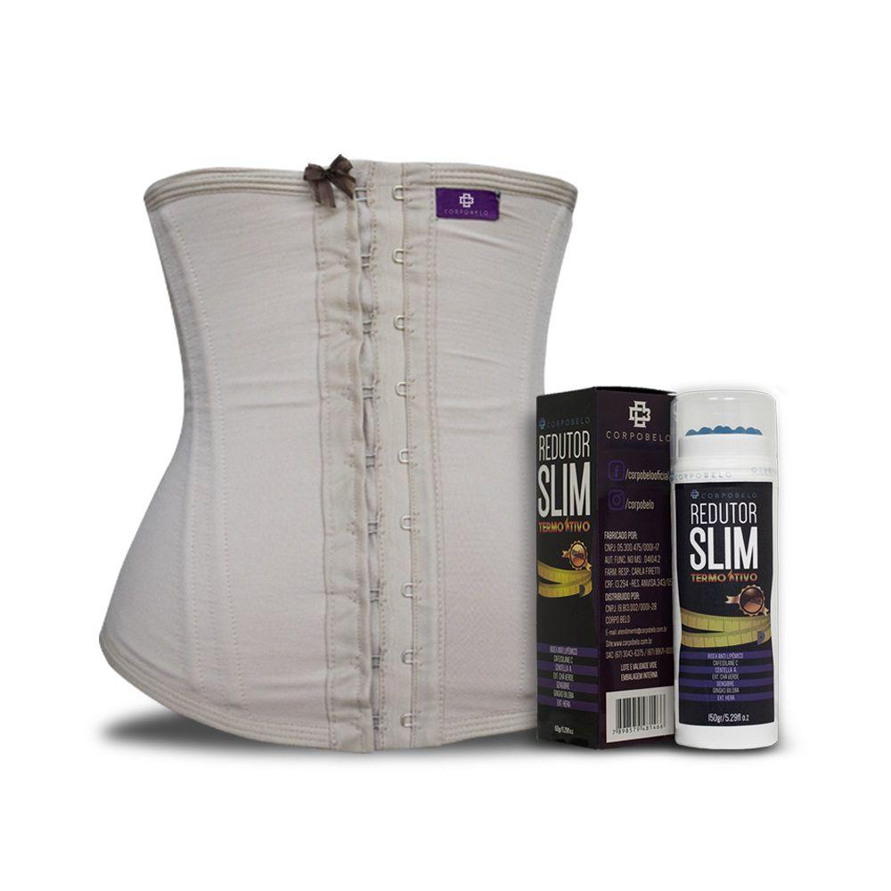 Kit Slim Cinta Modeladora Curta Chocolate + Gel Redutor