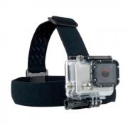 Acessório para Câmera de Ação Suporte para Cabeça Estrutura Elástica Ajustável e de Fácil Instalação Preto Atrio - ES072