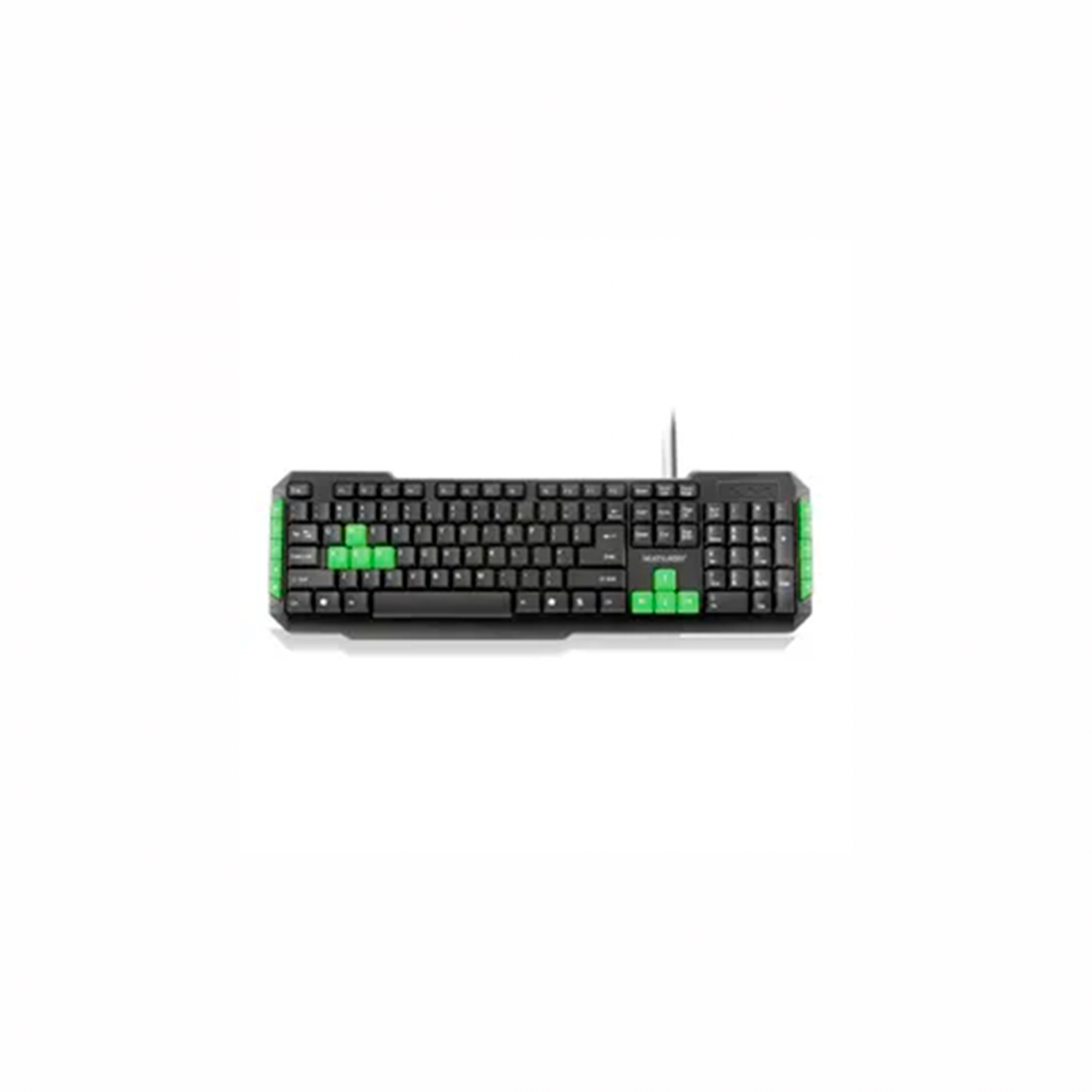 TECLADO MULTIMIDIA GAMER TC201 VERDE MUL