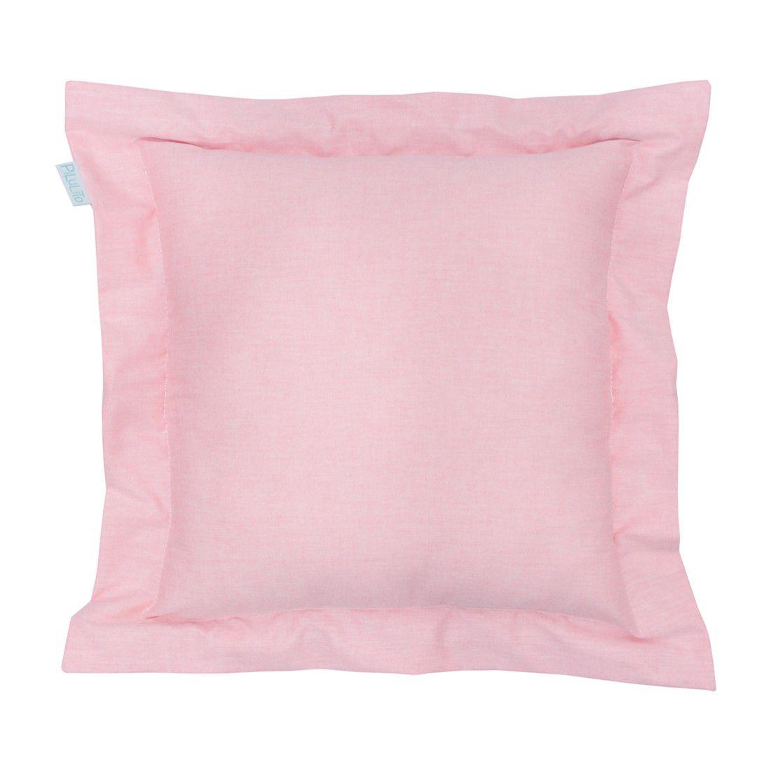 Capa de almofada 40x40cm rosa chá