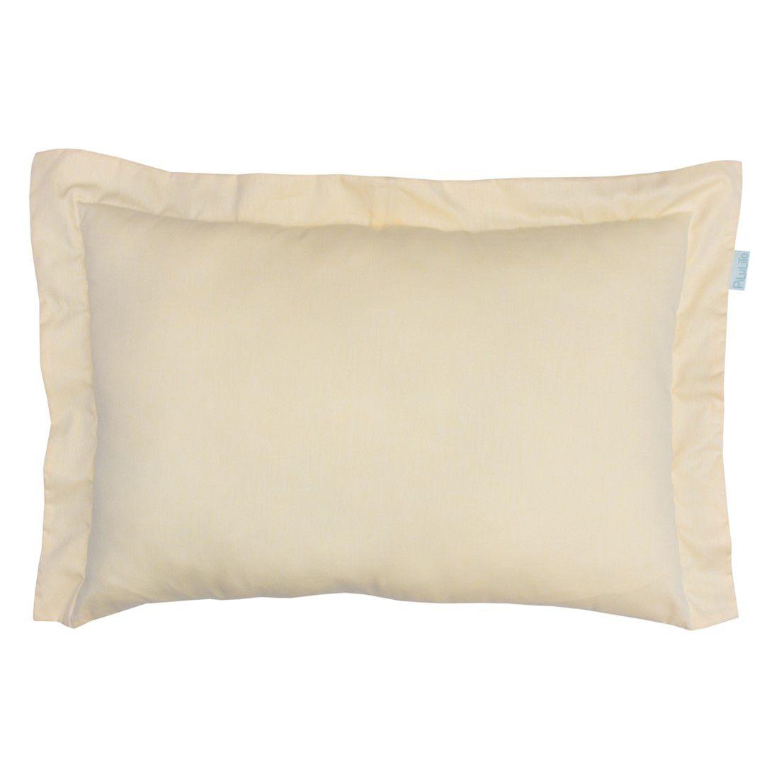 Capa de almofada de cabeceira 60x40cm amarelo suave