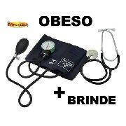 Esfigmomanômetro Obeso C/ Fecho De Contato + Estetoscopio