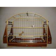 Gaiola Sabia/Pássaro Preto Roni com grade de fundo