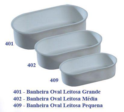 Banheira Oval Leitosa Pequena 10x5 (não quebra)