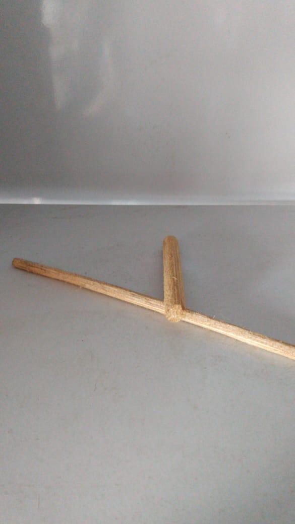 Poleiro Buriti  11 mm 3 pçs de 25 cm