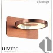 Arandela 16×9×17.8cm Marrom Aluminio+acrilico LED 6W 3000k Bivolt  DCB01610