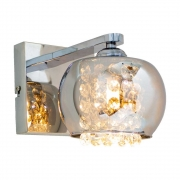 ARANDELA CASUAL LIGHT QAR1281-CR DUBILN 1L G9 130X190X160MM CROMADO
