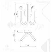 ARANDELA CISSY AR1507 - Bivolt(127V/220V) -10W 600LM 3000K DOURADO