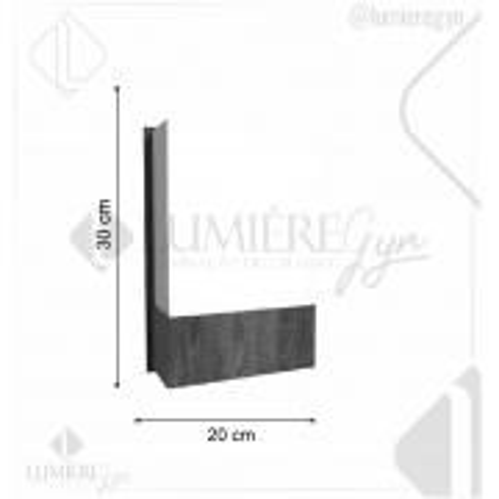 ARANDELA CLEAN 30X20cm - 1xE27 - AR12 - FOXLUSTRES