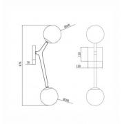 ARANDELA COLLI AR1513PT - Bivolt(127V/220V) - 2XG9(LED) MAX 5W DOURADO/PRETO