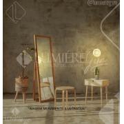 ARANDELA DE CRISTAL LAMPLUZ IRIS 1L LED 9W G9 170X150X150MM